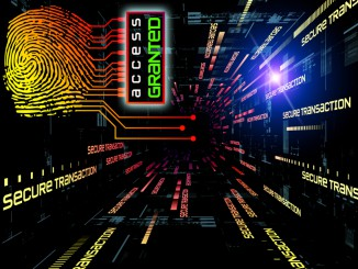 Interplay of fingerprint, digital circuitry and technological background on the subject of security, hacking, online accounts and privacy
